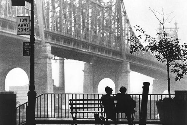 Woody Allen and Diane Keaton in Manhattan