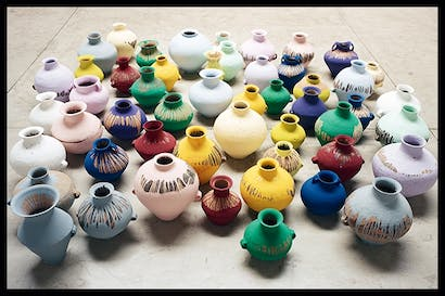 'Coloured Vases', 2015, by Ai Weiwei
