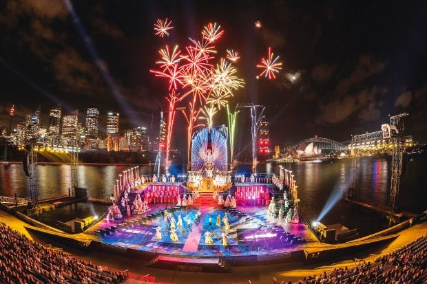 Water torture: Aida on Sydney Harbour