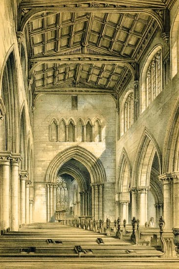 The Nave Of St Marys Stafford Restored By George Gilbert Scott