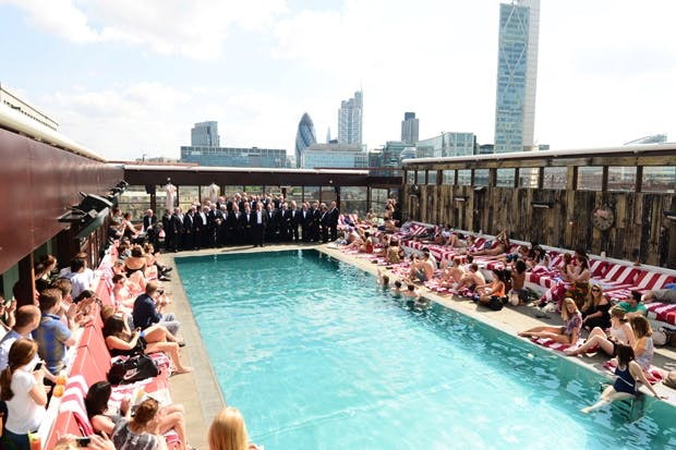 Poolside at Shoreditch House