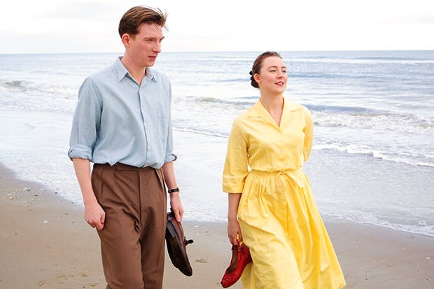 Domhnall Gleeson as Jim Farrell and Saoirse Ronan as Eilis in 'Brooklyn'