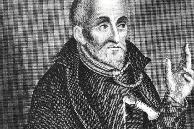 A depiction of the martyred Edmund Campion