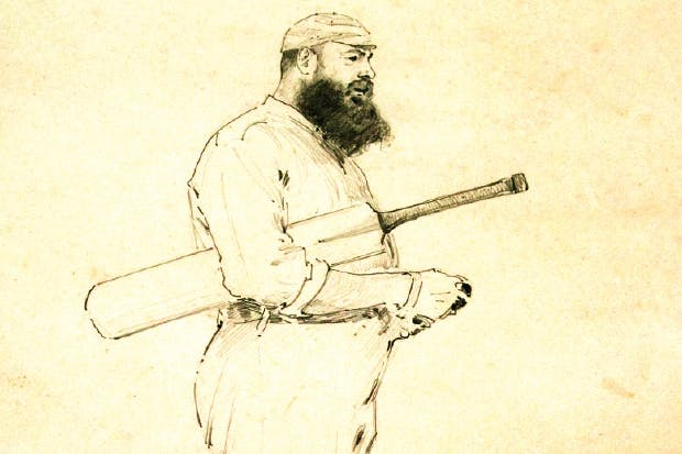 W.G. Grace, by W.T. Wilson, 1887: Grace is beginning to show signs of the gluttony that marked his late career