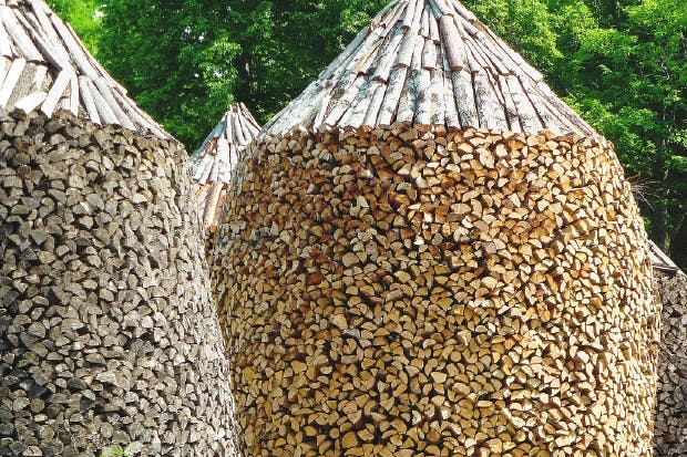 Perfectly stacked wood, Norwegian-style