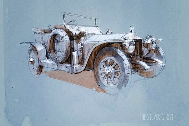 The Silver Ghost, illustrated by Stefan Marjoram