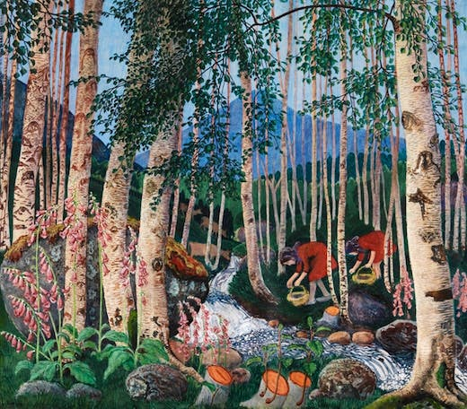 Foxgloves by Nikolai Astrup
