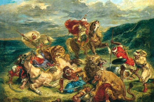 'Lion Hunt', 1861, by Eugène Delacroix