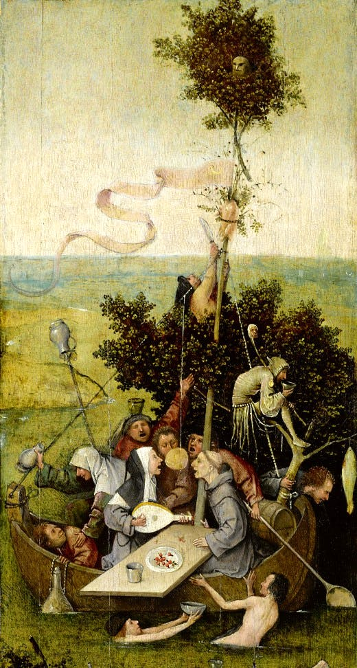 'The ship of Fools' by Hieronymus Bosch