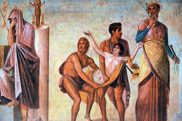 The sacrifice of Iphigenia: Agamemnon's crime was 'impious', according to Lucretius