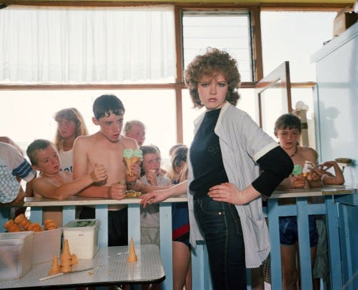 Martin Parr's 'GB. England. New Brighton.' From 'The Last Resort' series