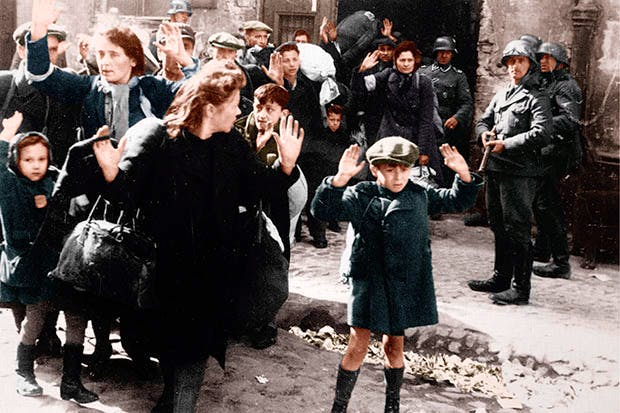 The SS deport Jews from the Warsaw ghetto