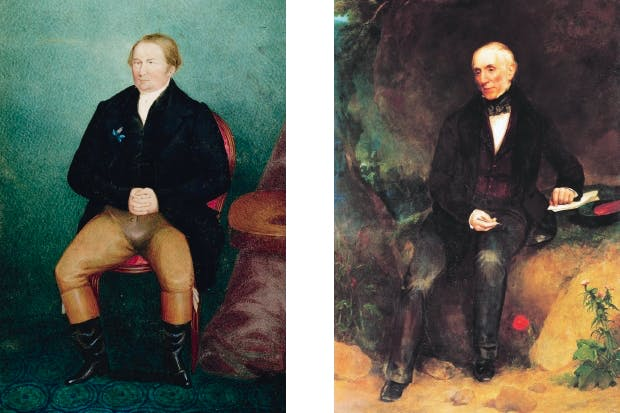 Left: The social reformer William Cobbett, hero of Anna Pavord's book. Right: William Wordsworth believed that anyone who reacted to a landscape was transformed into a poet.