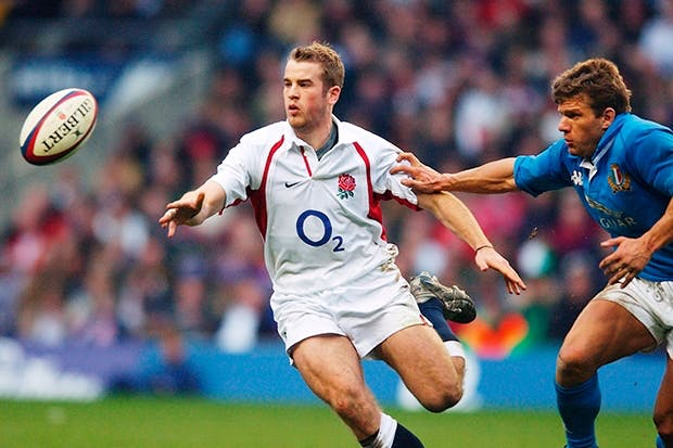 More than a game: James Simpson-Daniel in a Six Nations game at Twickenham, 2003