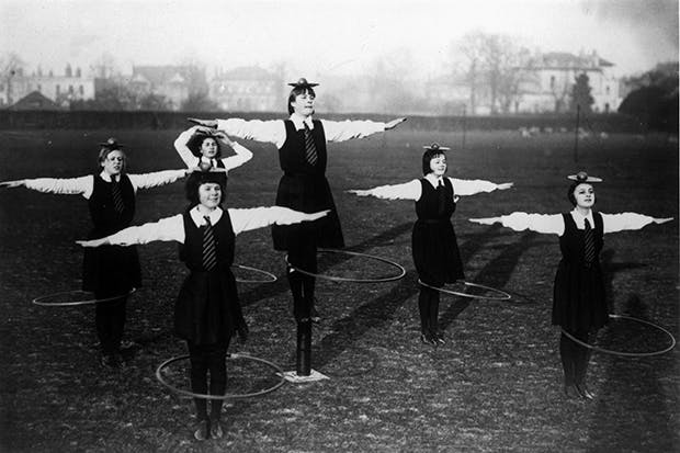 Though they never went quite as far as these schoolgirls, good deportment was enforced with rigour at Cheltenham in the 1950s