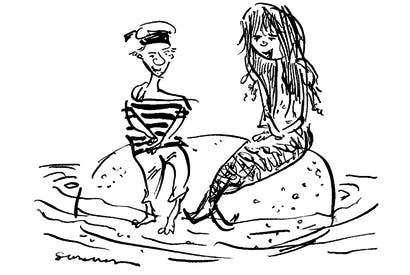 'I'm a mermaid, you're a sailor — of course we're gender fluid.'