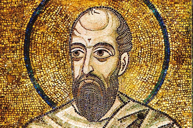 St Paul (detail) by the Byzantine Master,St Sophia Cathedral, Kiev