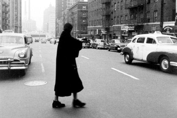 Greta Garbo in New York in 1955