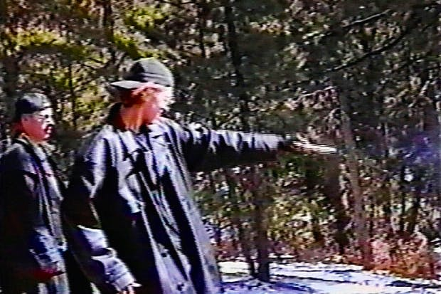 Harris and Klebold practise at a rifle range two weeks before the Columbine massacre