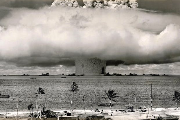 American nuclear weapons test at Bikini Atoll, July 1946