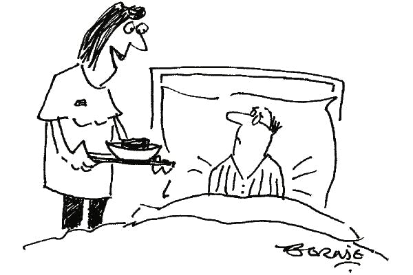 'Speciality of the hospital — weekend death by chocolate.'