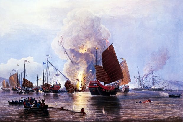 The British give the Chinese a taste of their own medicine in the First Opium War