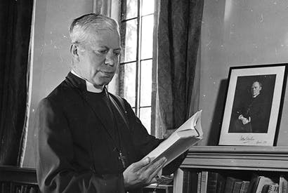 George Bell in his study at Chichester Palace in 1943