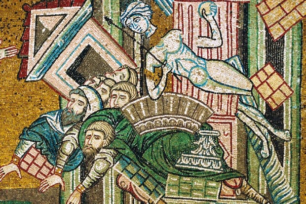Detail of mosaic depicting the martyrdom of Saints Castus and Cassius, 12th century, at the Cathedral of Monreale, Sicily