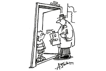 """'If that's an EU pollster, tell them I'm """"out"""".'"""
