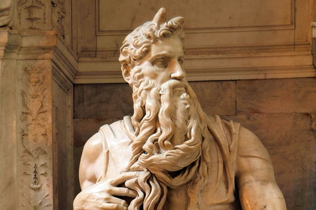 Following a mistranslation of the Old Testament, Michelangelo depicted Moses with horns