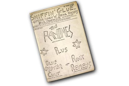 Doing it for themselves: the first issue of the first punk fanzine 'Sniffin' Glue'