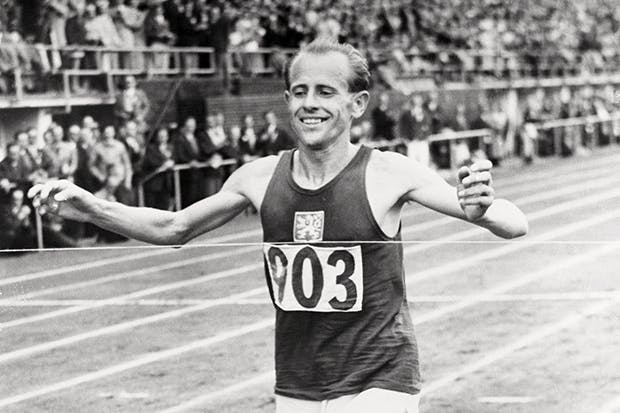 Emil Zátopek at the height of his powers