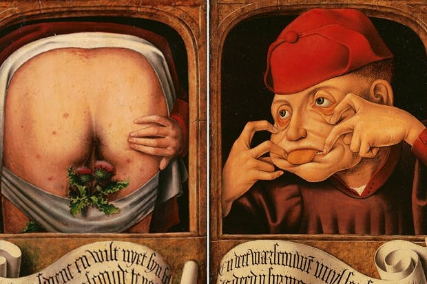Satirical diptych, 1520–1530, anonymous Flemish artist