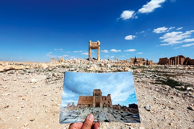 True or false? The Temple of Bel, Palmyra, before and after its destruction at the hands of Islamic State
