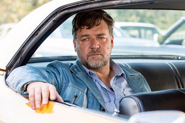 A side order of extra Marmite comes in the considerable silhouette of Russell Crowe as Jackson Healy