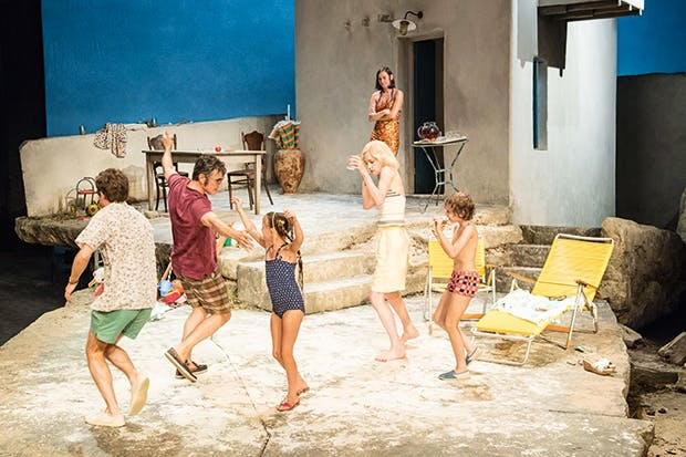 We're all going on a summer holiday: the cast of 'Sunset at the Villa Thalia'