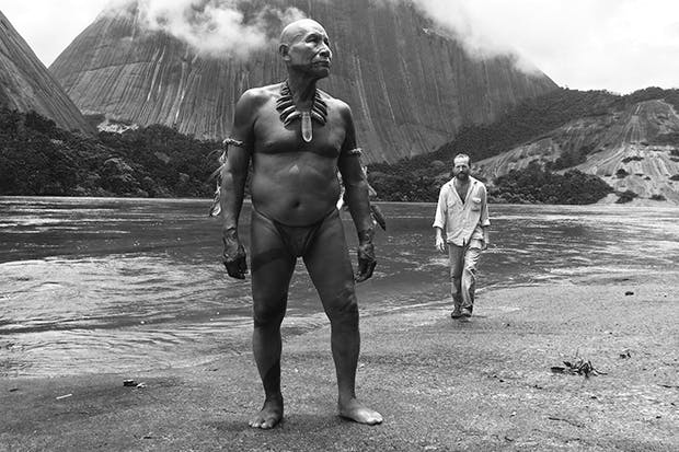 Antonio Bolívar, left, as the older Karamakate in 'Embrace of the Serpent'