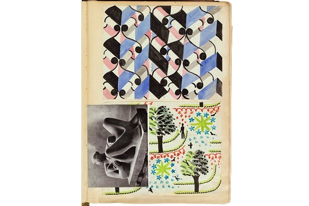 A page from Bawden's scrapbooks