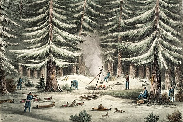 Striking camp in Canada, March 1820