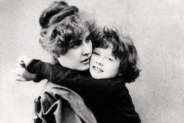 Oscar Wilde's wife Constance with their son Cyril in 1889
