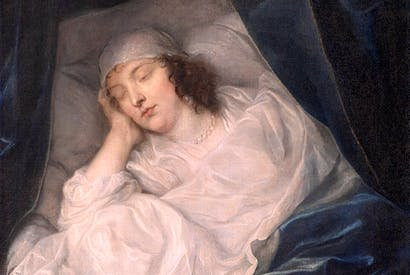 'Venetia, Lady Digby, on her Deathbed', Anthony van Dyke, 1633 (oil on canvas), Dulwich Picture Gallery