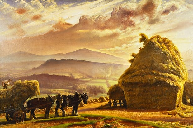 'Stack building, Malvern Hills', by Laura Knight