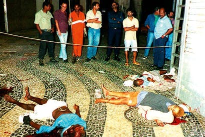 Victims of 'decontamination': three of the eight homeless children executed by Rio's police outside the Candelaria church in 1993