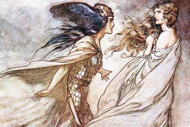 'The ring upon thy hand', illustration for 'Siegfried and the Twilight of the Gods', Arthur Rackham (private collection)