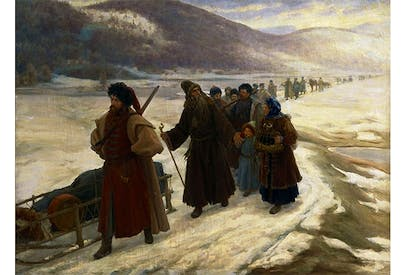 'The Road to Siberia' by Sergei Dmitrievich Miloradovich