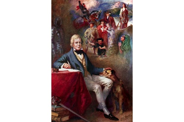 Sir Walter Scott and some of his most famous creations, by E.F. Skinner