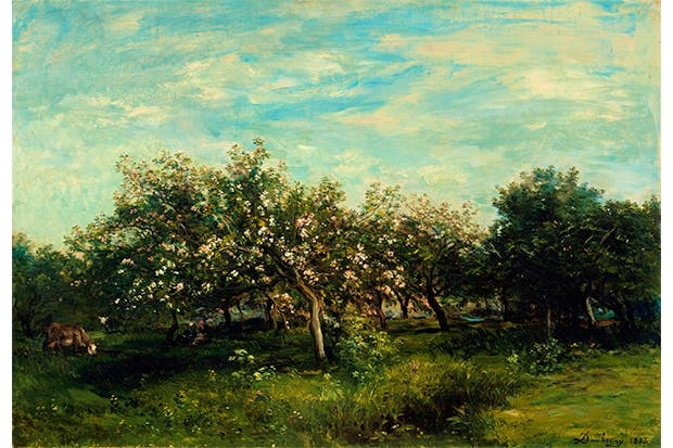 'Apple Blossoms', 1873, by Charles-François Daubigny