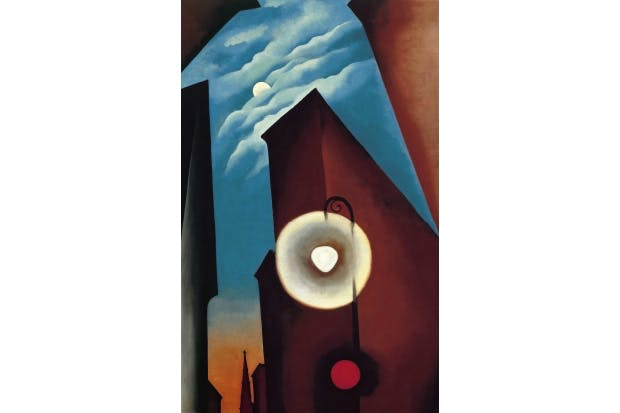 'New York Street with Moon', 1925, by Georgia O'Keeffe