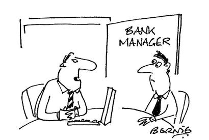 'I see you have a healthy bank balance. You'll understand that's not something we can tolerate indefinitely.'