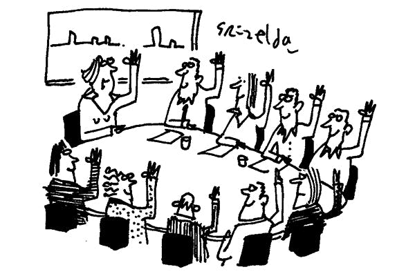 'So we're all agreed — consensus politics is over.'